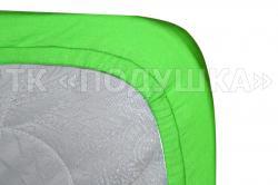 Трикотажная простынь на резинке «Салатовая»